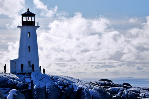 The famous light house, Peggy's Cove in Nova Scotia [2011: Oktofani]
