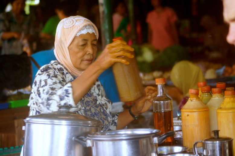 'I would not make jamu galian rapat for unmarried woman'  said a traditional homemade jamu seller.