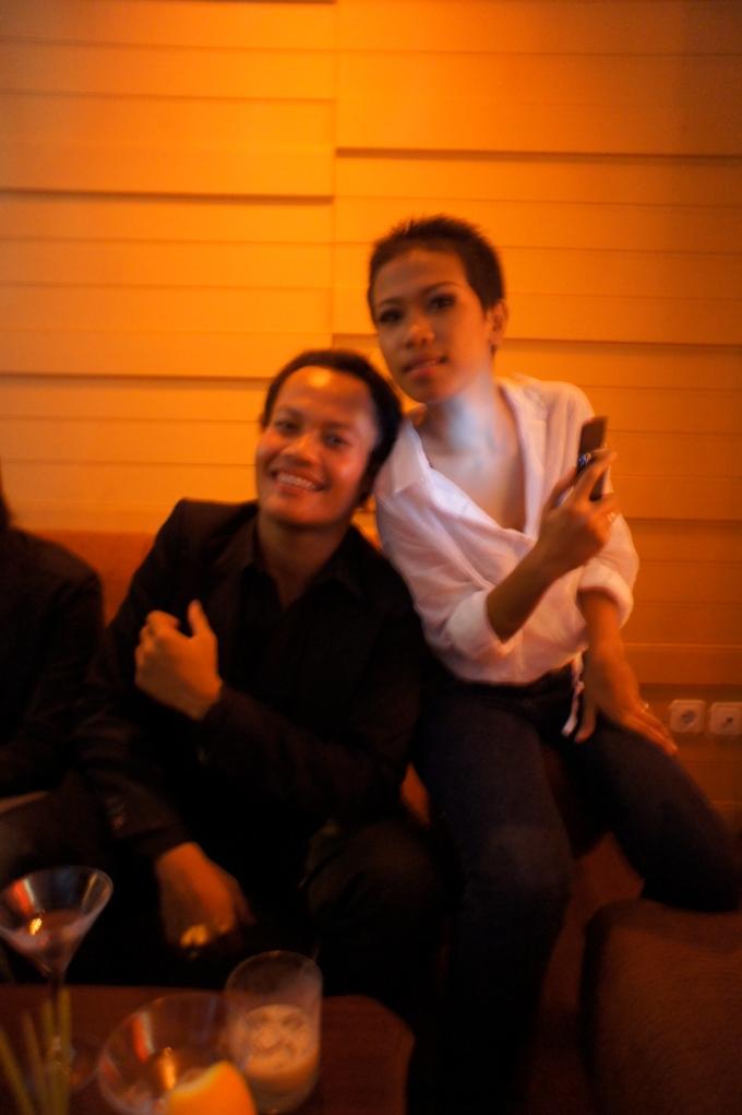 We were at my after wedding party at Vino Bar [Yogyakarta, 2011]