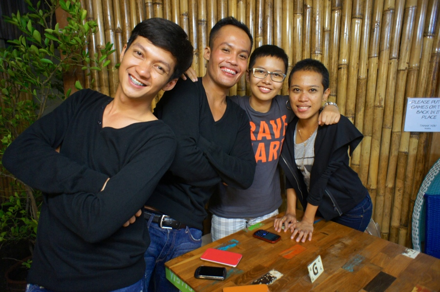 Our small gang, Yusak, Adit, Bebek and I [Yogyakarta, November 2012]