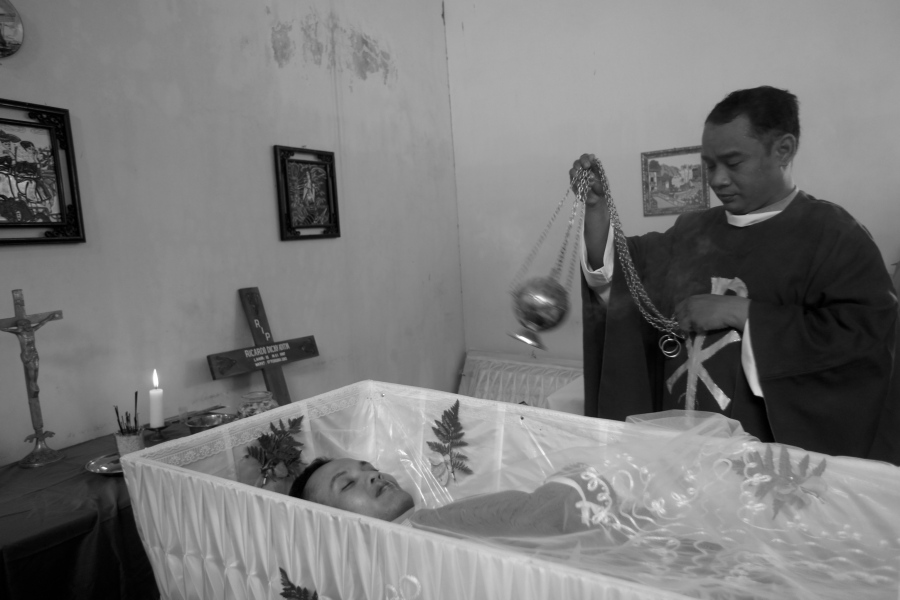 Adit left us peacefully and went to a better place in Heaven with Angels and God up above... Goodbye Adit [Yogyakarta, 2013]