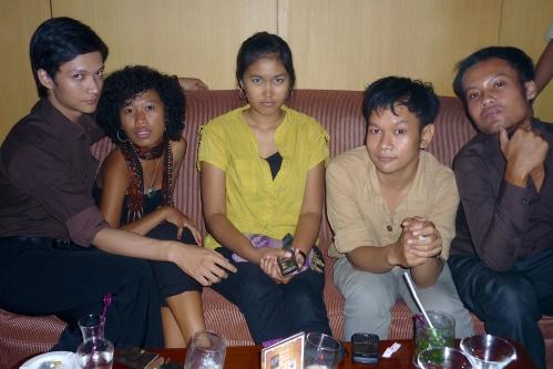 Yusak, I, Olen, Nocky and Adit [Yogyakarta, 2010]