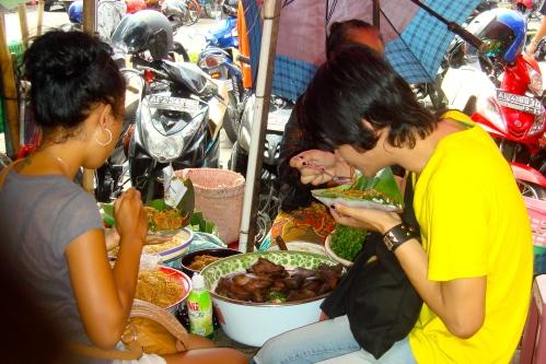 Yusak and I had bakmi pecel at Pasar Beringharjo, Malioboro, Yogyakarta