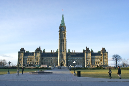 The Parliament Building of Canada in Ottawa, Ontario [2011: Oktofani]