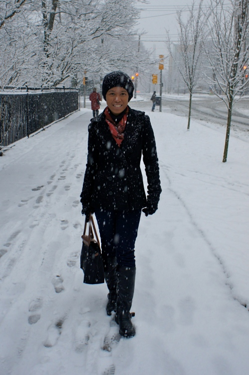 Tried to enjoy my first winter and white Christmas in Halifax, Nova Scotia [2011: ER]