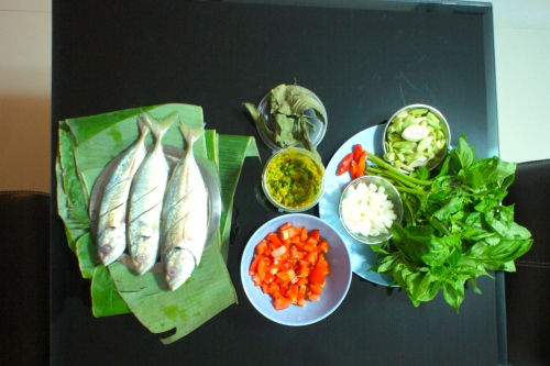 Preparation for Pepes Ikan Kembung [2013: Oktofani]