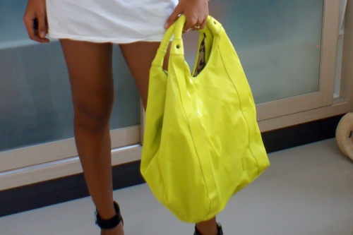 Yellow Neon Bag by L.A.M.B [2013: ER]
