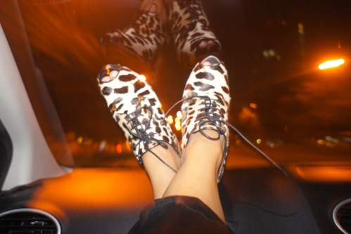 Rocking my new leopard peep toe shoes by Dolce & Gabbana [2013: Oktofani]