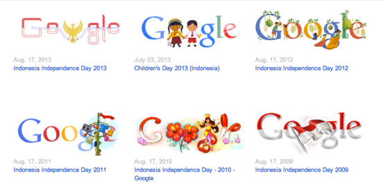Indonesia Independence Day Doodle