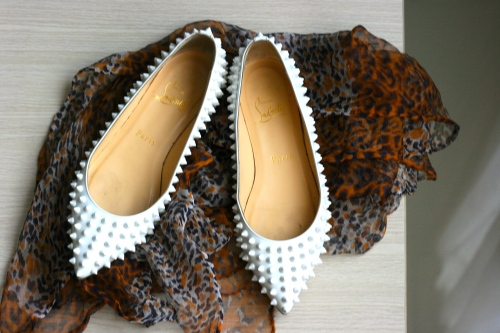 White Flat Spike by Christian Louboutin [2013: E O]