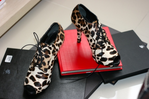 Open Toe  Ankle Boots Leopard by Dolce & Gabbana [2013: E O]