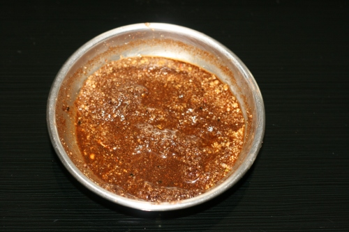 Homemade coffee and rice scrub [2014:EO]
