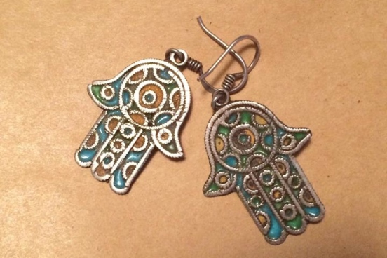 Hamsa earrings [2014: E O]