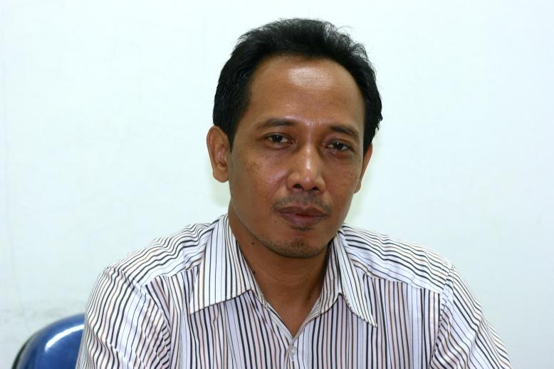 The head of Pasar Santa, Bambang Sugiharto [2014: E O]