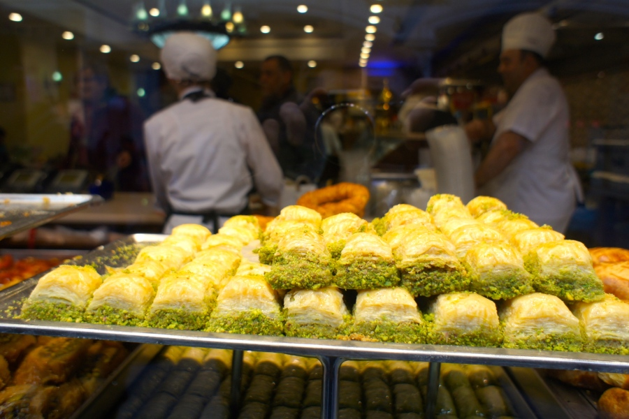 Baklava is one of Turkish traditional snack, which is very  rich, sweet pastry [2014: E O]