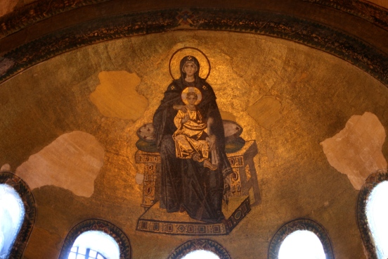 Mother Mary in The Holy Church of Wisdom, Hagia Sophia [2014: E O]