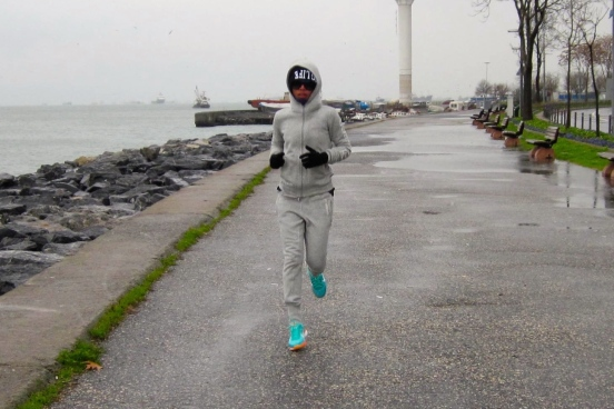 My first 2015 jogging by Bosporus Strait, Istanbul, Turkey [2015:ER]