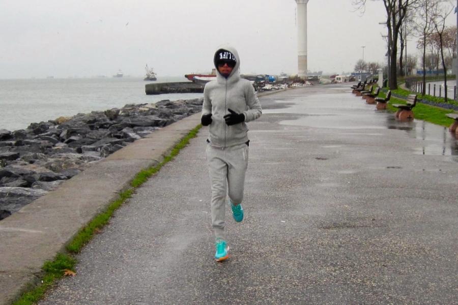 My first 2015 jogging by Bosporus Strait, Istanbul, Turkey [2015:ER]
