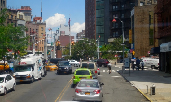 There will be the famous NYC Green Taxi in the near future. Can you spot the Green Taxi?  [2015: EO]