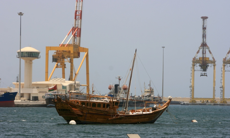 Omani Dhow at the Old Port of Muscat [2015: EO]
