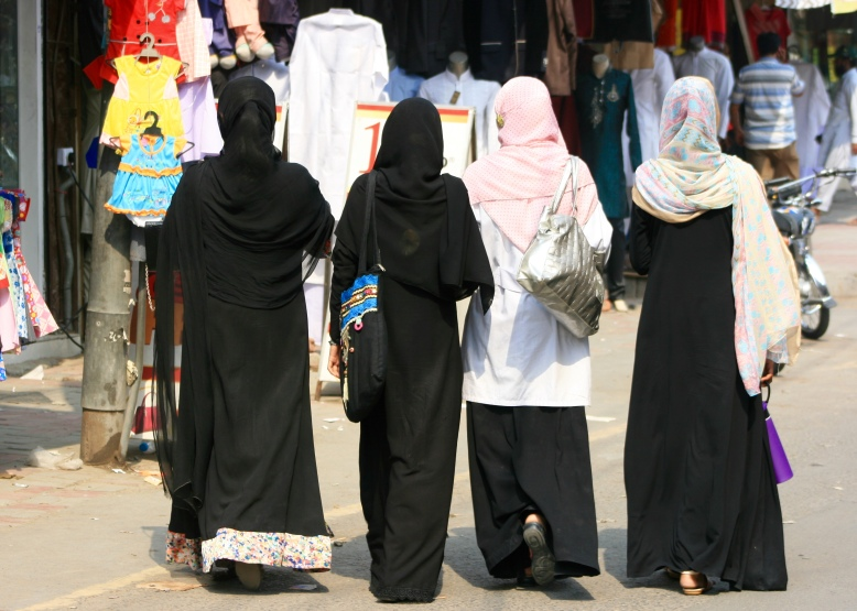 Pakistani women went for window shopping in traditional market of Lahore [2015: EO]