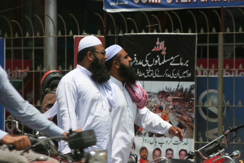 Two religiously devoted Pakistani men went to Friday praying [2015: EO]